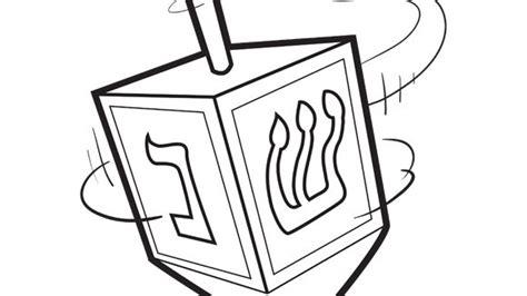 coloring page for dreidel hanukkah series dreidel grandparents com
