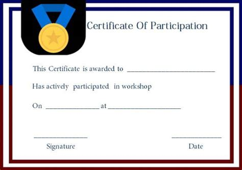 template for certificate of participation in workshop best 25 certificate of participation template ideas on