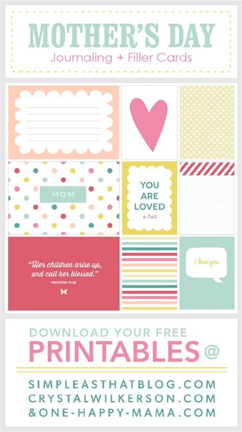 s day list 2014 ultimate roundup of free journaling filler card printables