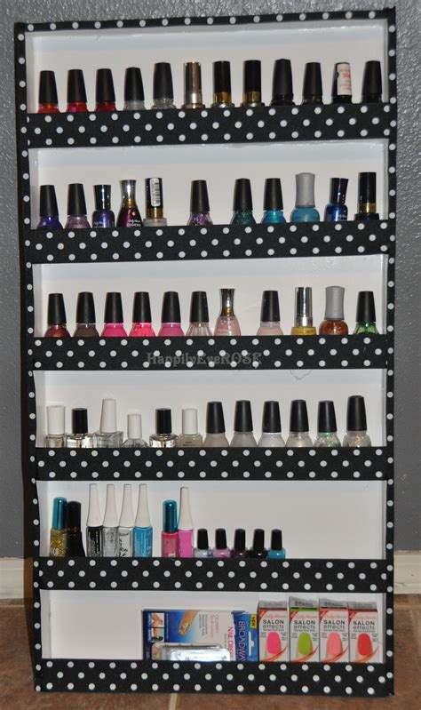 Build Your Own Nail Rack by Diy Nail Rack Happilyeverose