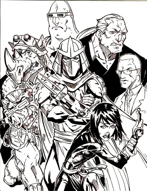 Kaos Tmnt The Shredder tmnt 2012 colouring pages memes