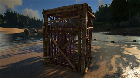 wooden cage wooden cage official ark survival evolved wiki