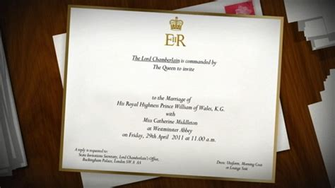 Wedding Announcement List by Royal Wedding Guest List The Invitations Abc News