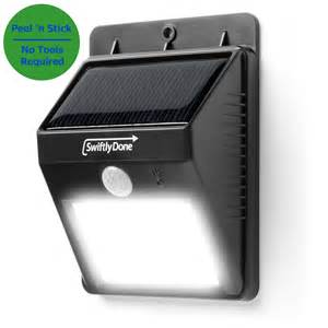 Outdoor Solar Security Light Swiftly Done Bright Outdoor Led Light Solar Energy Powered Weatherproof Ebay