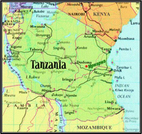 africa map zoom tanzania