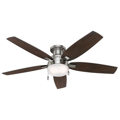home ceiling fan duncan 52 in led indoor brushed nickel ceiling fan