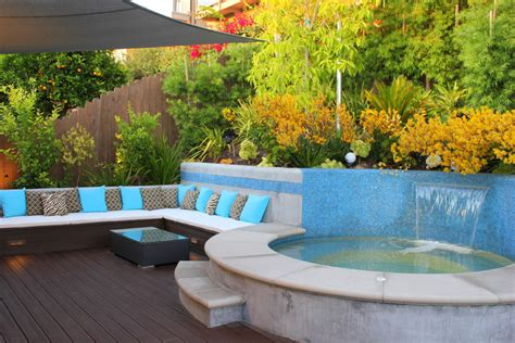 Cape Cod Home Decor outdoor jacuzzi ideas patio contemporary with bench light