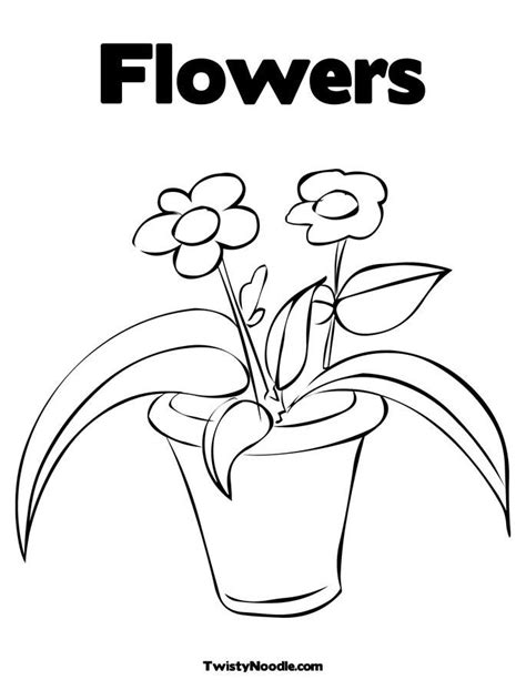 coloring pages of flowers in a pot flower pot colouring pages page 2 coloring home