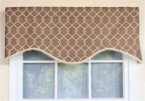 Contemporary Valances Chippendale Lattice Cafe Cornice Window Valance