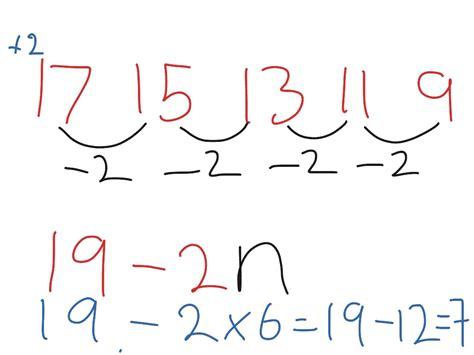 nth term of descending sequences math algebra showme