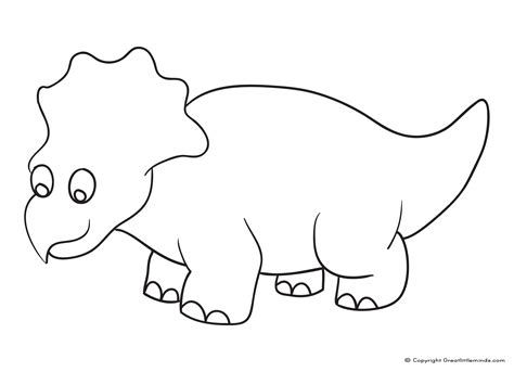 dinosaur triceratops coloring page cartoon dinosaur coloring cute pages grig3 org