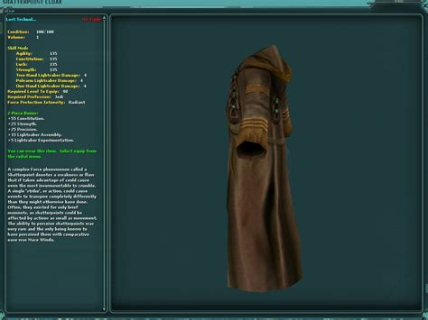 Swg Jedi Template by Shatterpoint Cloak Swg Wiki The Wars Galaxies Wiki