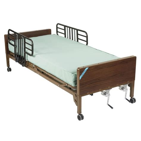 hospital bed rails drive multi height manual hospital bed with half rails and