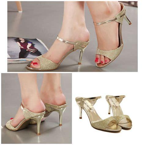 Sendal Sepatu Wanita High Heels Gold 7cm toko sepatu archives grosirimpor