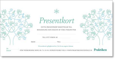 Go by Praktiken Huddinge 08 711 50 90 187 Presentkort