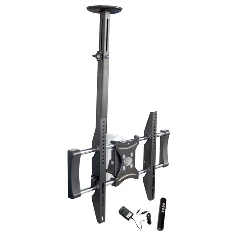 motorized retractable tv ceiling mount pylehome petr105