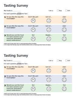 Kids Tasting Food Hero Taste Test Survey Template