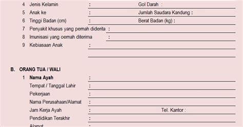 pemilihan pendaftaran murid murid untuk memasuki kelas tkit tpq baitul aini contoh formulir pendaftaran untuk
