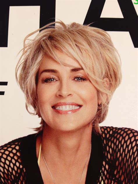 styles for thin hair for women in midlife sharon stone on shape magazine cover hair ideas