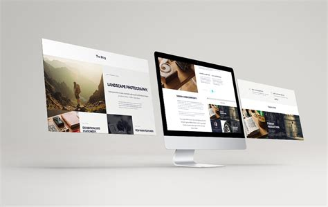 Web Design Mockup Presentation | digital magazine layout and design studio responsive