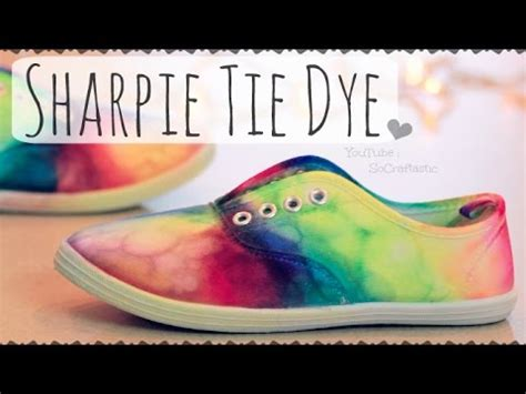 diy sharpie tie dye shoes rainbow sneakers how to doovi