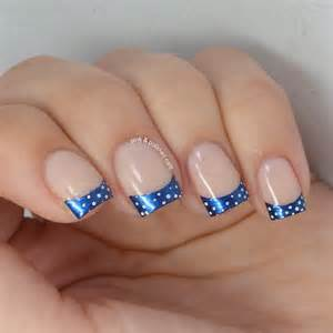 You can customize french tip nails so many different ways by using