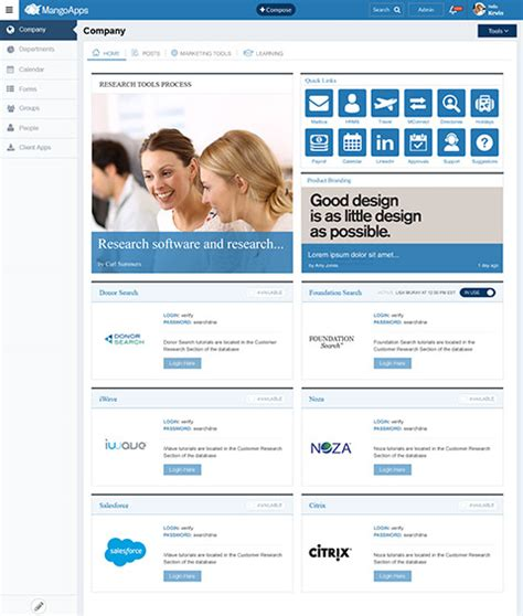 Modern Intranet Social Intranet Simple Intranet Best Intranet Mangoapps Intranet Design Templates