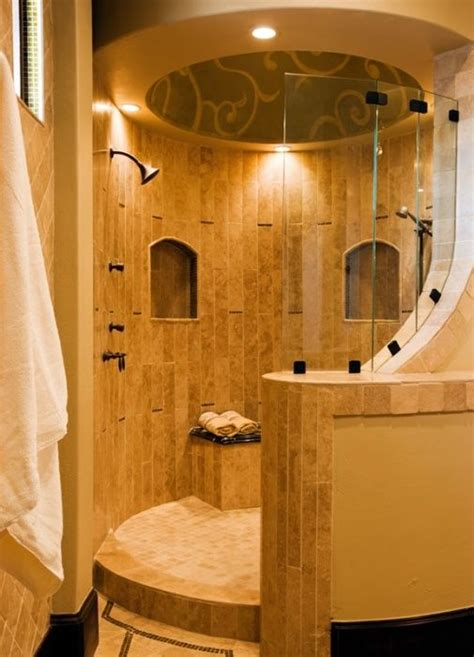open shower designs rounded open shower home design ideas pinterest