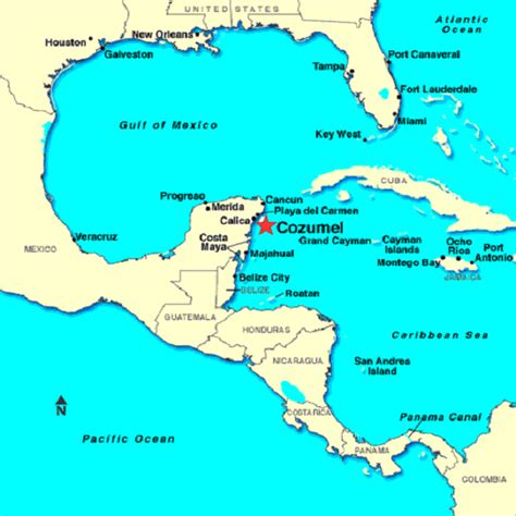 map of mexico cancun and cozumel 134
