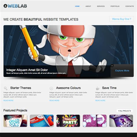 html5 newsletter template free html5 website template of the week weblab creative