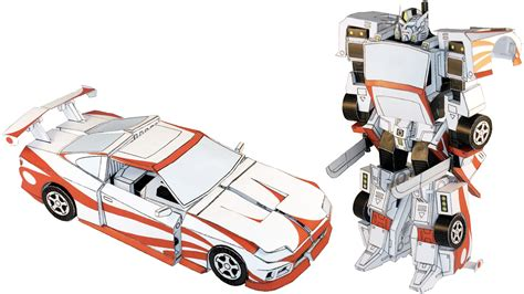How To Make A Transforming Out Of Paper - transform paper and glue into a robot that actually