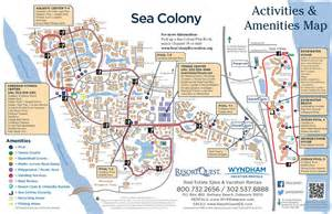 Sea colony activities map resortquest real estate