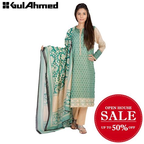 gulrang new year sale 2016 best pakistani dresses gul ahmed summer lawn open house sale 2016