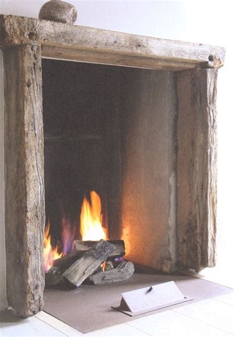 Open Wood Fireplaces by Rustic Fireplace Winter