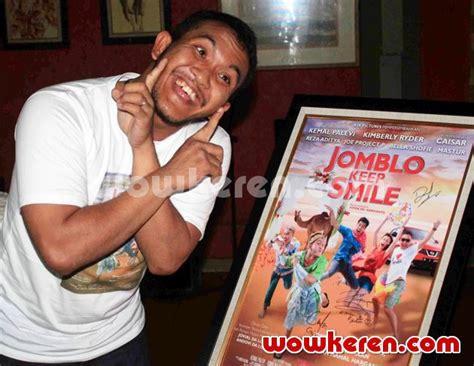 film bioskop jomblo keep smile foto caisar di jumpa pers film jomblo keep smile foto