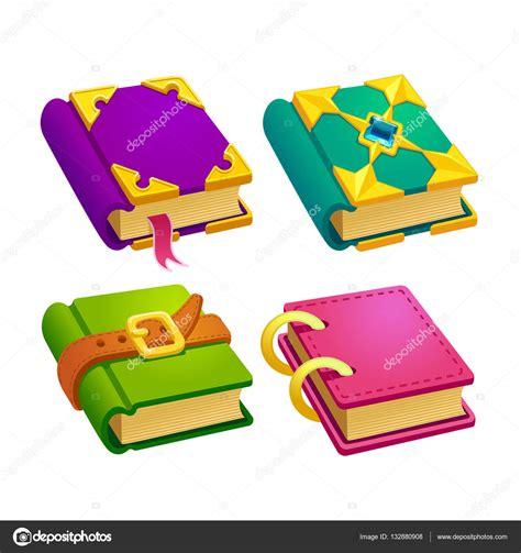 libros web html imagenes conjunto de libros de diverso color de dibujos animados