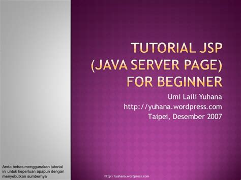 tutorial java server pages tutorial jsp java server page bagian 1