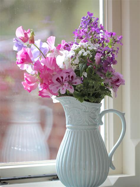 in a vase on monday sweet pea success peonies posies