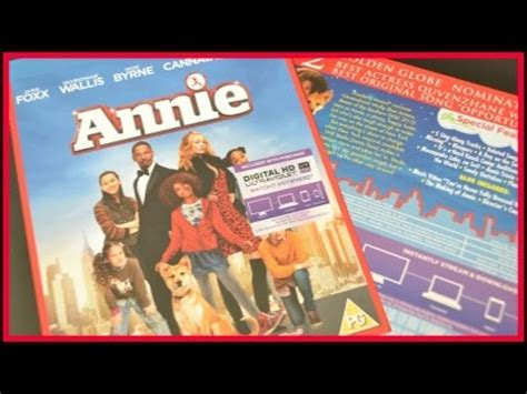 unboxing annie 2014 film version blu ray youtube annie 2014 blu ray uk unboxing youtube