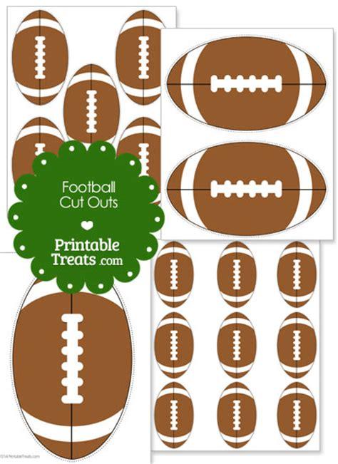 Free Printable Football Cutouts printable football cut outs printable treats