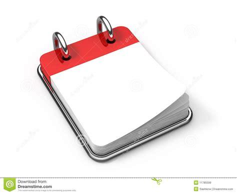 blank desk calendar on white royalty free stock images