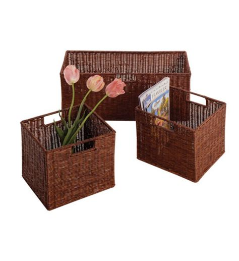 Shelf With Basket by Shelving Unit With Baskets In Shelves With Baskets