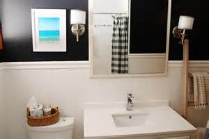 Navy And White Bathroom Ideas Bathroom Makeover Vanity Details