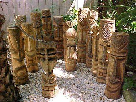 hand carved florida palm tree tiki statues tiki statues