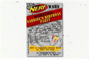nerf gun invitations size customized by printingthemoon