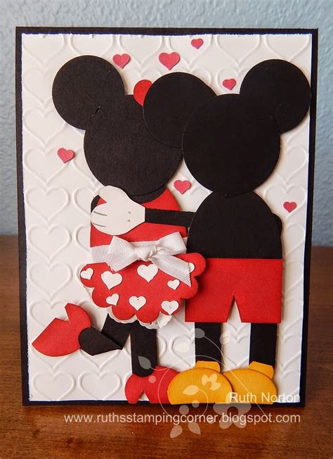 Handmade Minnie Mouse Birthday Cards - handmade card mickey and minnie i would like to make