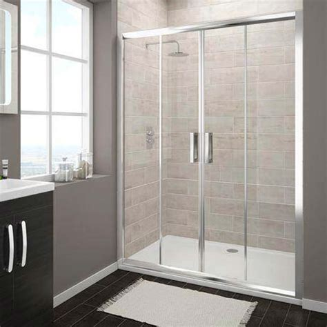 Fitting Shower Door Turin Sliding 8mm Easy Fit Shower Door 1400mm