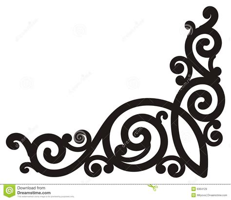 corner design swirl corner borders clipart clipart suggest
