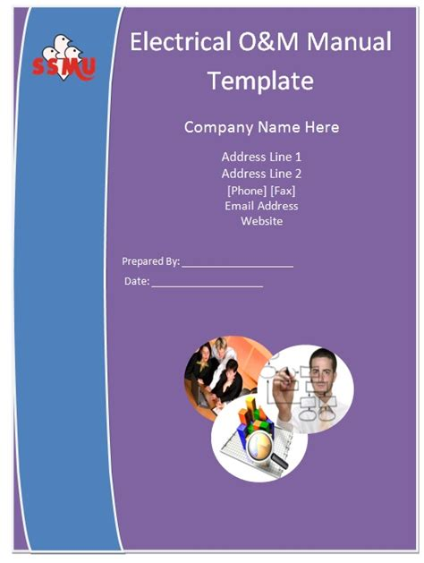 o m template electrical o m manual template guide help steps