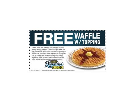 waffle house regulars club free waffle at waffle house freebies list freebies by mail free sles by mail